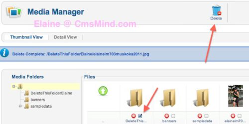 joomla 2 5 8 tutorial how to delete images folder in media manager 5 Joomla 2.5 Tutorial   How to Delete Folder in Media Manager