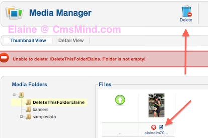 joomla 2 5 8 tutorial how to delete images folder in media manager error folder not empty 3 Joomla 2.5 Tutorial   How to Delete Folder in Media Manager