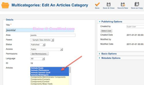 joomla 2 5 assign articles to multiple categories component 6 Joomla 2.5   How to Assign Articles to Multiple Categories