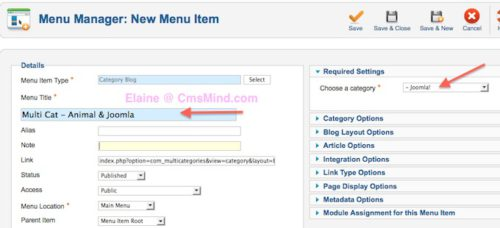 joomla 2 5 assign articles to multiple categories menu item select 10 Joomla 2.5   How to Assign Articles to Multiple Categories