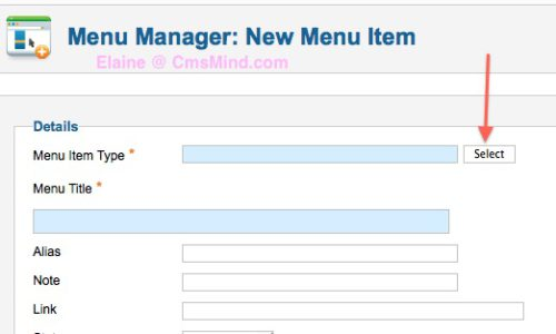 joomla 2 5 assign articles to multiple categories menu item select 8 Joomla 2.5   How to Assign Articles to Multiple Categories