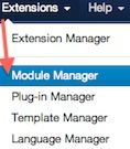 joomla 3 extension module manager Joomla 3.0   How to Delete the Top Menu in Joomla