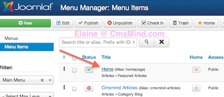 joomla 3 how to remove word home from frontpage default home menu item 2 Joomla 3.0 Tutorial   How to Hide the Main Menu Title