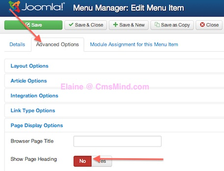 joomla 3 how to remove word home from frontpage default home menu item 3 Joomla 3.0 Tutorial   How to Hide the Main Menu Title