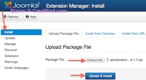 joomla 3 install component extension manager 1 Joomla 3.0 Tutorial   How to Install a Component in Joomla
