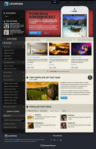 joomla 3 magazine template news template leviathan Cost to Build a Magazine Website with Joomla 3.0 Template   Leviathan