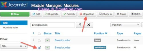Joomla 3.0 Remove Breadcrumbs from Homepage
