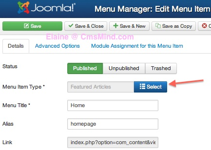 joomla 3 set menu item show articles from category blog style 1 Joomla 3.0   How to Set Menu Item to Show Articles in Category Blog