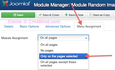 joomla 3 show module on selected pages not on homepage 3 Joomla 3.0   How to Publish Modules on Selected Pages