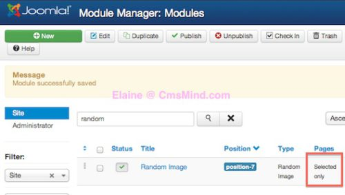 joomla 3 show module on selected pages not on homepage 5 Joomla 3.0   How to Publish Modules on Selected Pages