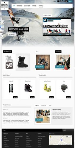 joomla 3 template ecommerce online store general commerce Create an Online Store with Joomla 3.0 Template   General Commerce