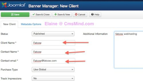 Joomla 3.0 Tutorial - Add Banner in Joomla - New Banner Client