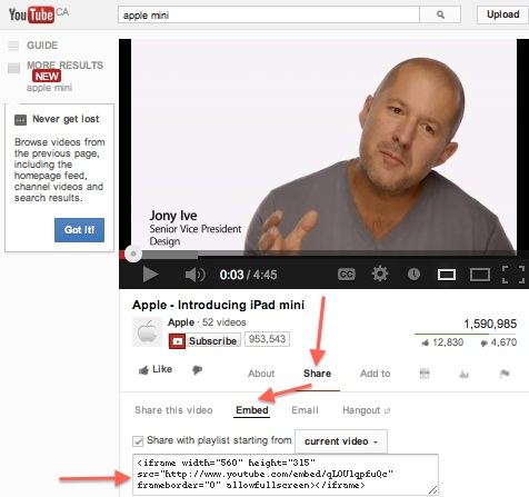 joomla 3 tutorial embed youtube video into article iframe code How to Embed a Video From YouTube into Joomla 3.0 Articles