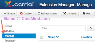 joomla 3 uninstall module extension manager 1 Joomla 3.0   How to Uninstall a Module in Joomla