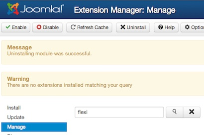 joomla 3 uninstall module extension manager 3 Joomla 3.0   How to Uninstall a Module in Joomla