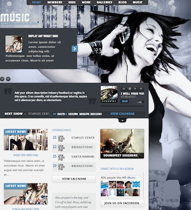 music band festival website wordpress theme music Create an Amazing Music Band Website with Wordpress Theme   Music