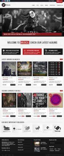 music online store ecommerce wordpress theme musica Best Ecommerce Themes