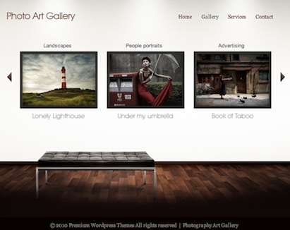 Photography Portfolio WordPress Theme Main Photo Gallery - Art Gallery