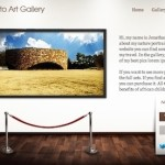 Click to visit Portfolio Photography Template that looks like an Art Gallery