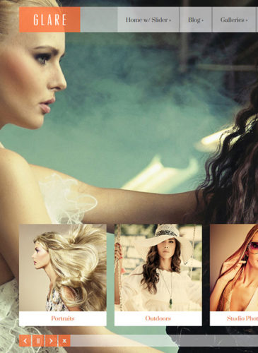 portfolio template photography website glare Cost to Create a Portfolio Website for Models with Wordpress   Glare