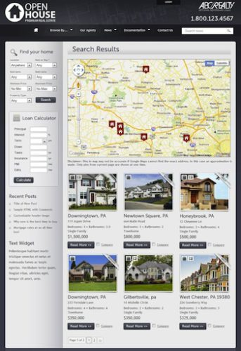 real estate tempate site like remax wordpress theme openhouse Create a Real Estate Website with Wordpress Theme   Openhouse
