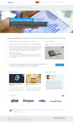 responsive business template portfolio website wordpress theme venture Cost to Create a Professional Business Website with Wordpress   Venture