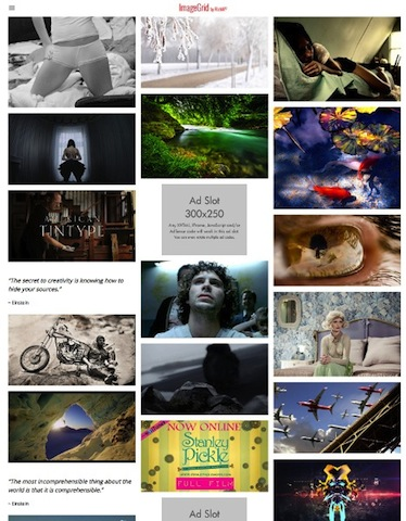 Photography Template WordPress Theme - ImageGrid