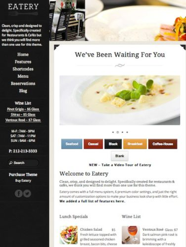 restaurant clone restaurant cafe website eatery Cost to Make a Restaurant Website with Restaurant Clone   Eatery