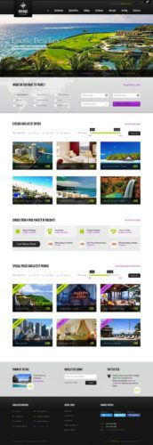 Responsive Travel Agency Template - Voyage