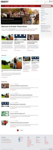 Responsive University Website with WordPress Theme - Erudito