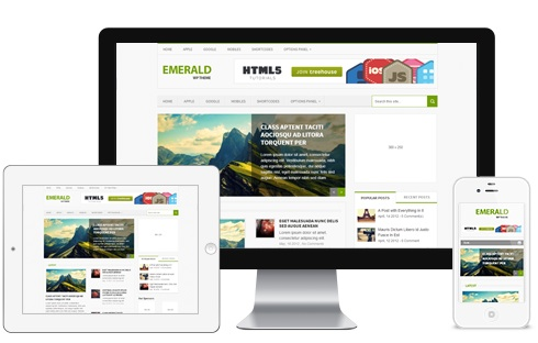 Responsive Magazine WordPress Theme - Emerald