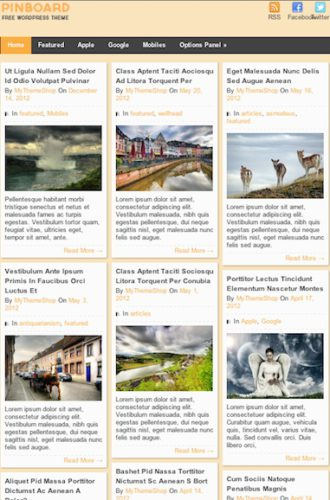 Responsive pinterest like style Wordpress theme mythemeshop pinboard 2 Cost to Build a Pinterest Like Site with Free Pinterest Styled Wordpress Theme   Pinboard