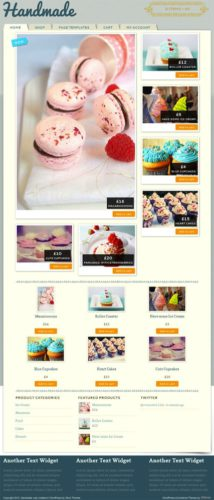 Bakery Template Online Store WordPress Theme - Handmade