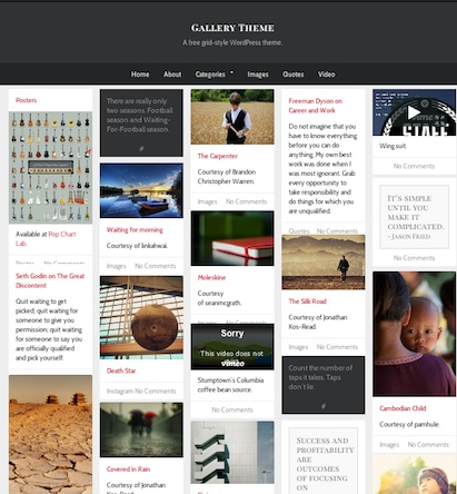 free tumblr clone responsive design infinite scroll wordpress theme gallery 2 Free Tumblr Wordpress Theme   Gallery