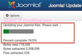 Joomla 3.0.3 Updating Joomla Progress bar