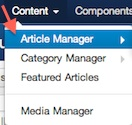 joomla 3 article manager Joomla 3.0 Tutorial   How to Remove Category Name From Article