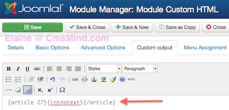 joomla 3 how to add articles to modules 8 Joomla 3.0   How to Insert an Article in a Module?
