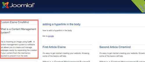 Joomla 3.0 Insert Articles in Modules view frontend in position-7