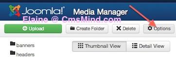 Joomla 3.0 Media Manager Options