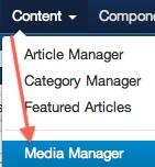 Joomla 3.0 - Media Manager