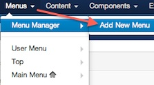 joomla 3 menus add new menu 1 Joomla 3.0 Tutorial   How to Create a Hidden Login Form