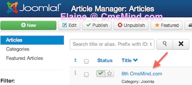 Joomla 3.0 - Edit Article in Article Manager - 6th Cmsmind.com
