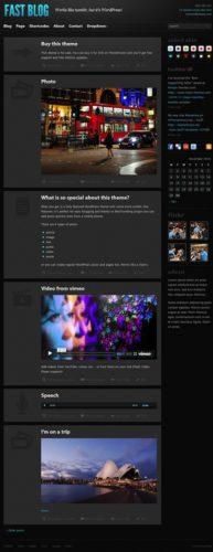 minimalistic tumblr clone tumblog wordpress theme fast blog Cost To Make a Site with Responsive Tumblr Theme   Fast Blog