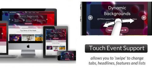Responsive Business Portfolio Joomla 3.0 Template with Mobile Support