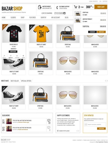 responsive ecommerce online store wordpress theme bazar Best Ecommerce Themes