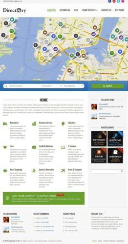 responsive geo theme directory template wordpress theme directory 5 Best Geo Themes