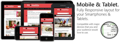 responsive health fitness magazine news wordpress theme fit healthy Cost to Make a site with Fitness Magazine Wordpress Theme   Fit & Healthy