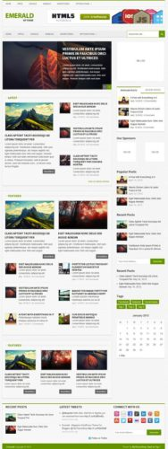 Responsive Magazine Template WordPress Theme - Emerald
