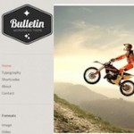 Click to visit Minimalistic Responsive Tumblr Clone Wordpress Theme - Bulletin