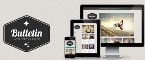 responsive tumblr clone wordpress theme bulletin Cost to Make a Tumblr Like Site with Responsive Tumblr Theme   Bulletin